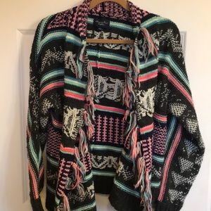 American eagle chunky, colorful knit cardigan